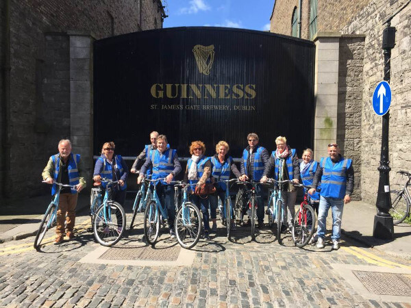 Our Dublin Bike Tour at the Guinness Gates